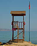Lifeguard tower, Almyrida