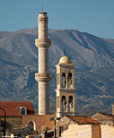 Minaret and bell tower of Agios Nikolaos church