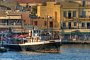 The old harbour of Chania early in the morning