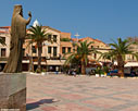 The cathedral square in Chania
