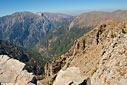 High above the gorge of Samaria