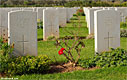Graves at the Allied War Cemetery of Souda