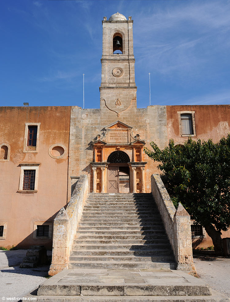 Entrance of the monastery of Agia Triada, Akrotiri peninsula