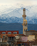 Chania church and the White Mountains