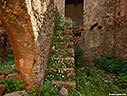 Staircase of a ruined house in Aradena