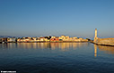 Chania harbour in early morning light