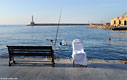 Fishing in Chania harbour