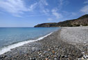 Deserted beach of Sougia