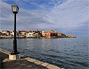Chania harbour in the morning