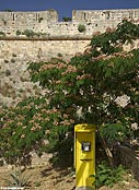 Public telephone by the Venetian fortress in Rethymnon