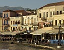 Chania sea front in the morning