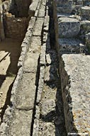 Stone channels - Agia Triada Minoan site