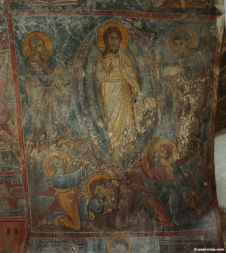 Fresco in the chapel of Agios Georgios, Anidiri, district of Selinou - click to enlarge