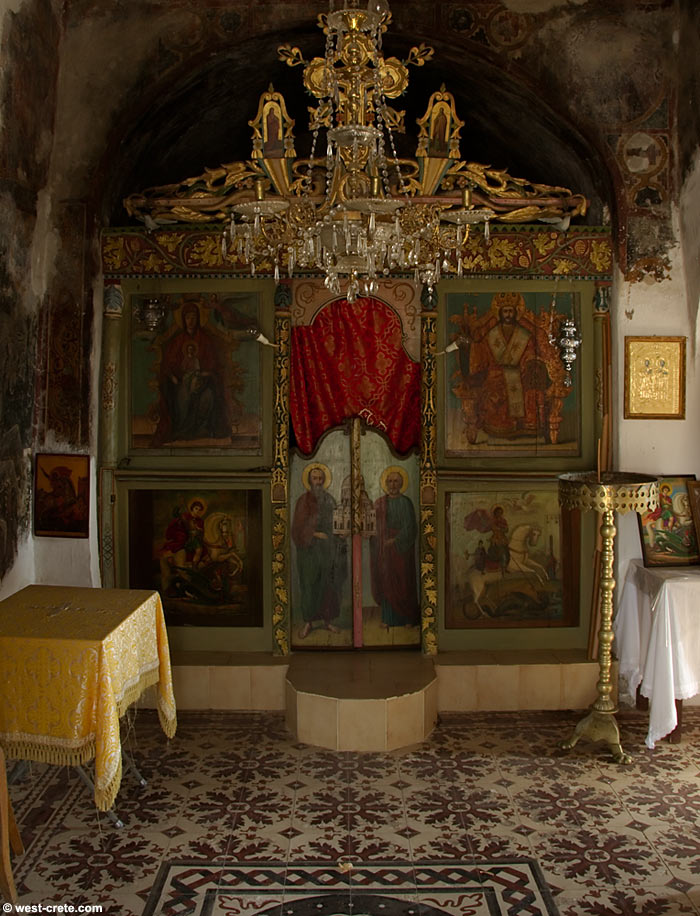 The interior of the chapel of Agios Georgios , Anidiri  - click to enlarge