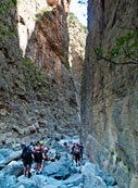 Walking in the gorge of Samaria