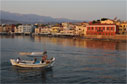 Fishing boat leaving Chania harbour