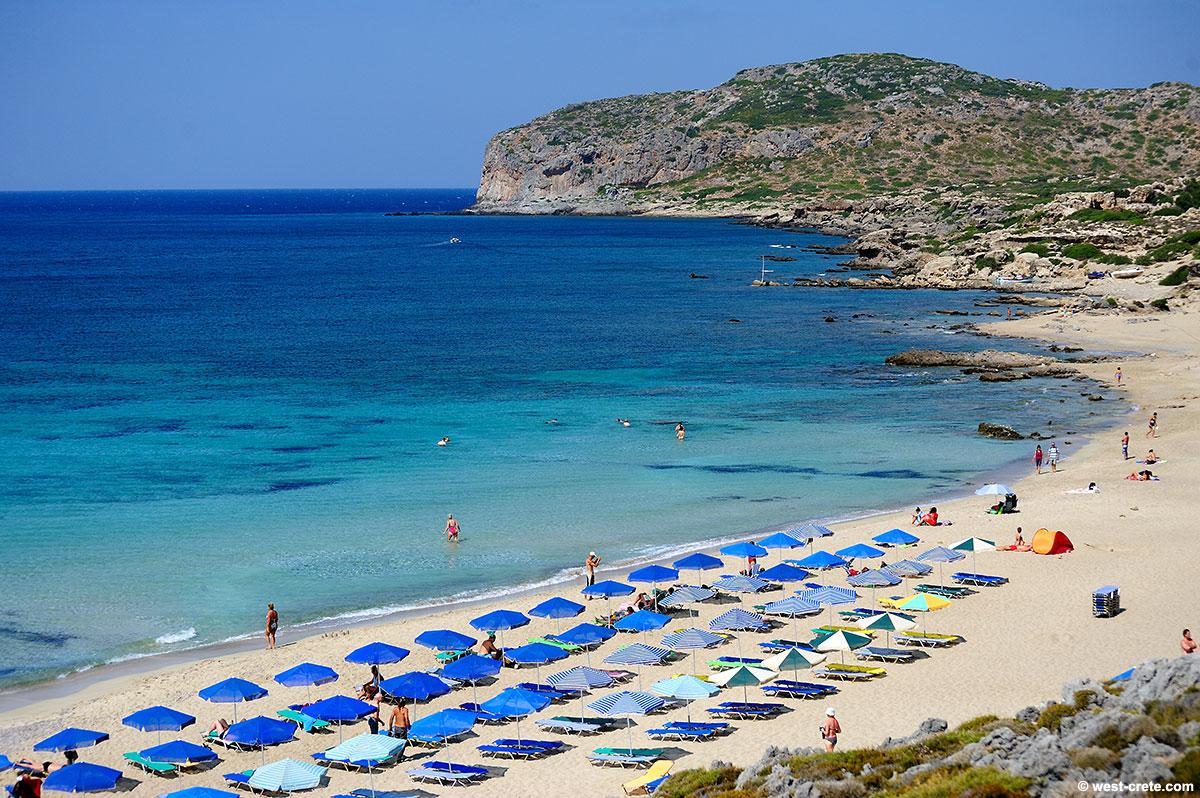 Falassarna Beach Crete Map