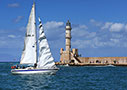 Sailing boat in Chania