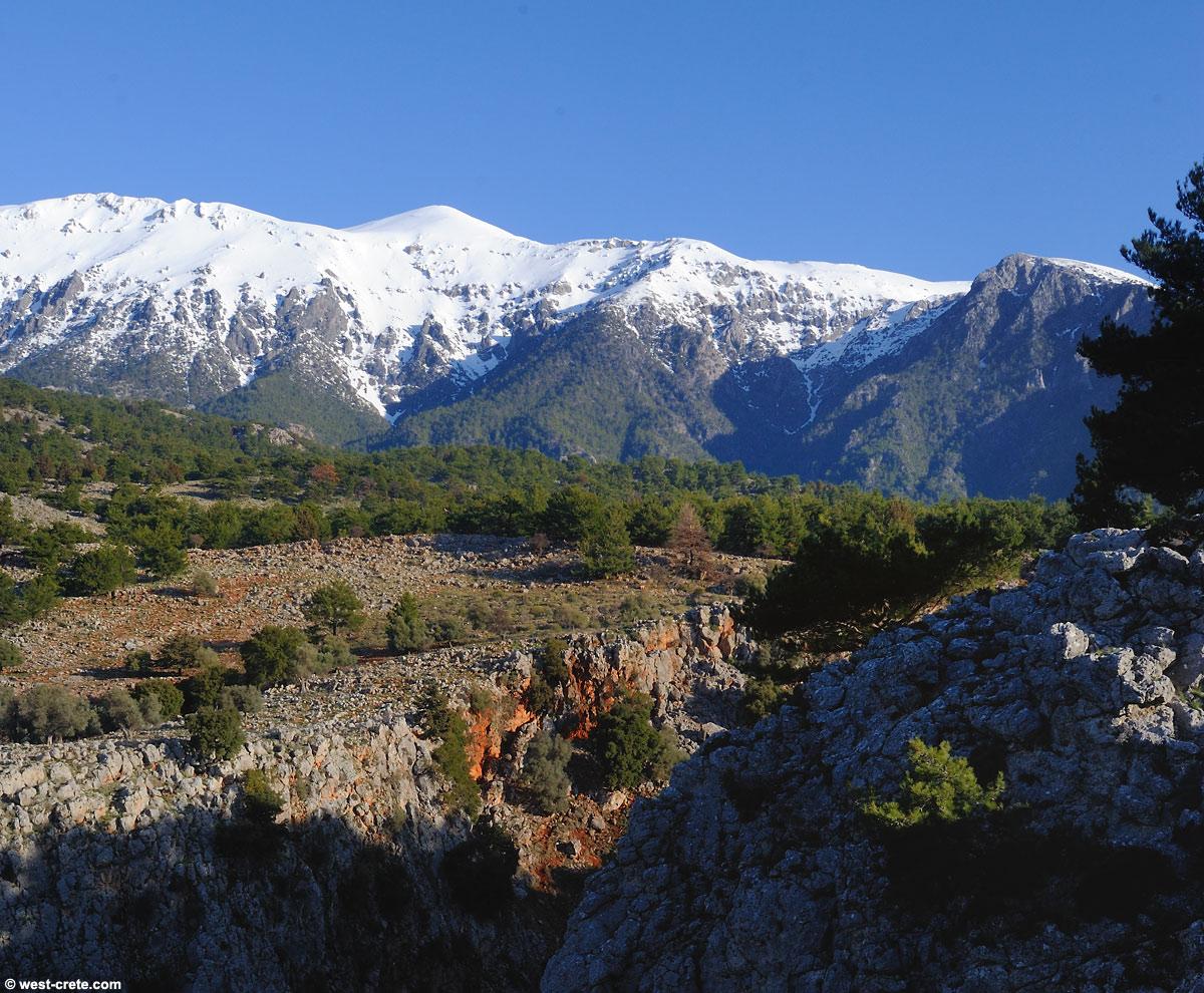 The White Mountains seen from Aradena