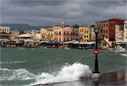 Storm in Chania harbour