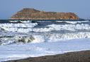 Stormy sea in Platanias