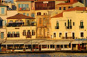 Houses on Chania harbour