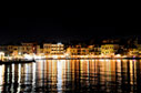 Chania harbour at night