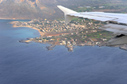 Arriving in Crete: flying over Stavros
