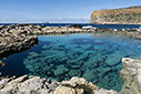 Rock pool in Balos