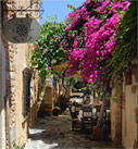 An open air restaurant in Chania's old town