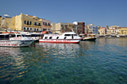 Excursion boats in Chania harbour