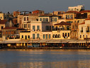 Early morning on the Chania sea front