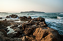 Sea and rocks by Agii Apostoli