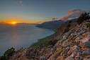Sunset in the bay of Agia Roumeli
