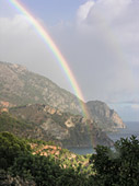 A rainbow along the South coast near Sougia