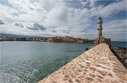 General view of Chania harbour