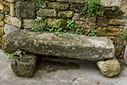 Small stone bench