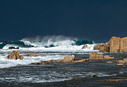 Stormy sea at Stavros