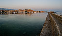Chania harbour at dawn