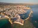 The old town of Chania from above