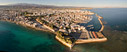 he city of Chania from above