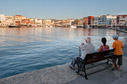 Sitting by Chania harbour
