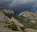 Dark clouds above the gorge of Imbros