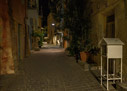 Chania Old Town alley at night