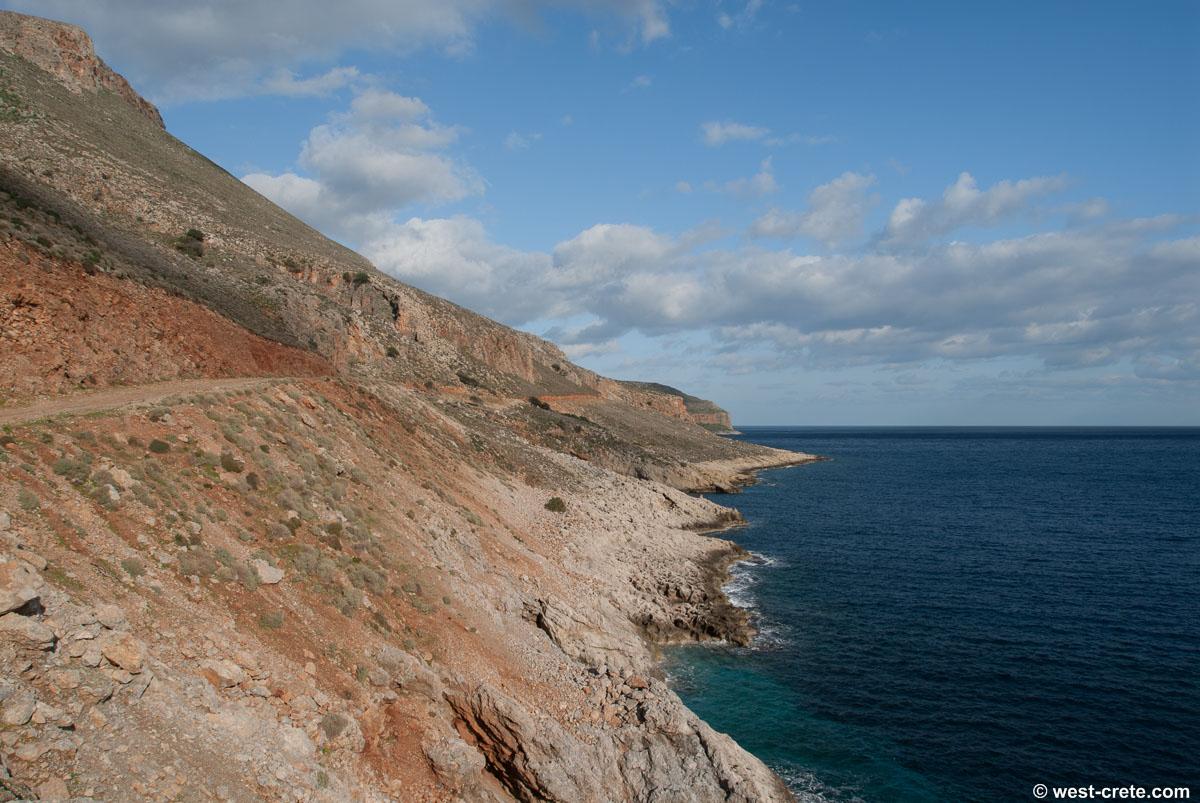 Balos beach road