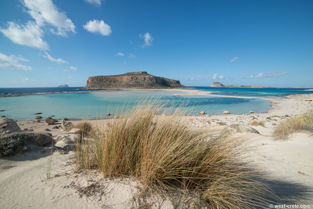 General View Of The Bay Balos And Tigani In Winter So No People