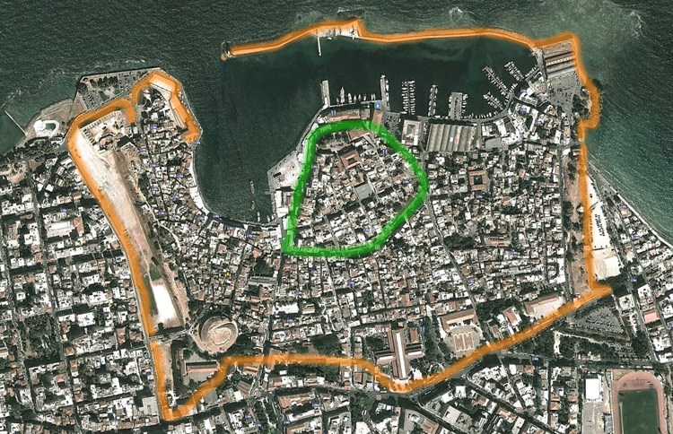 The Byzantine and Venetian fortifications of Chania - Click to enlarge