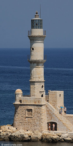 The lighthouse of Chania