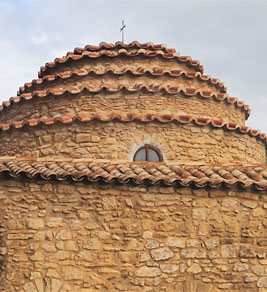 The stepped dome of the church of the Archangel Michael in Episkopi