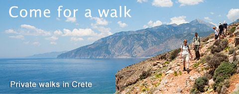 Private guided walks in Crete